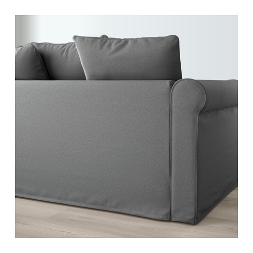 GRÖNLID - corner sofa, 3-seat, with open end/Ljungen medium grey | IKEA Hong Kong and Macau - PE669618_S4