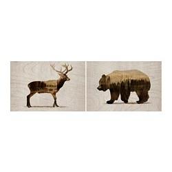 BJÖRNAMO - picture, set of 2, Wild animals II | IKEA Hong Kong and Macau - PE781729_S3