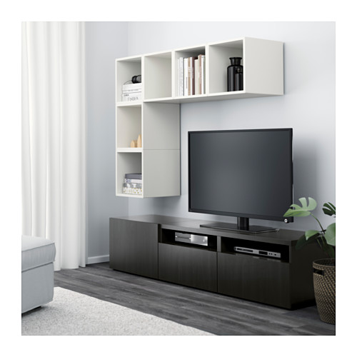 EKET/BESTÅ - cabinet combination for TV, white/black-brown | IKEA Hong Kong and Macau - PE617937_S4