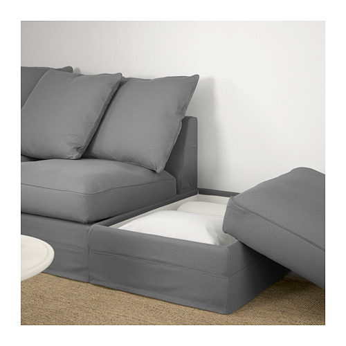 GRÖNLID - corner sofa, 3-seat, with open end/Ljungen medium grey | IKEA Hong Kong and Macau - PE669664_S4