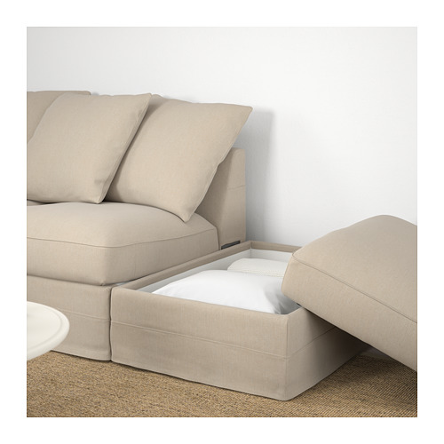 GRÖNLID - corner sofa, 3-seat, with open end/Sporda natural | IKEA Hong Kong and Macau - PE669670_S4