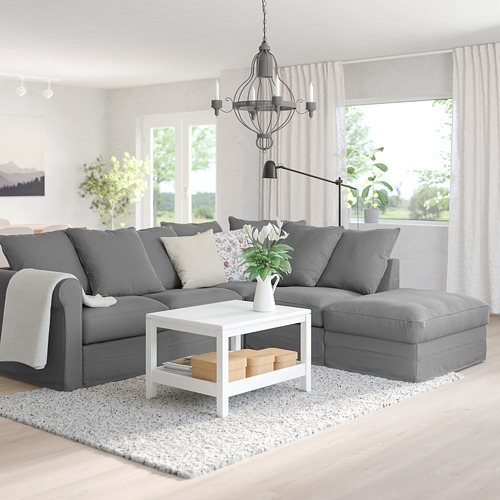 GRÖNLID - corner sofa, 4-seat, with open end/Ljungen medium grey | IKEA Hong Kong and Macau - PE759180_S4