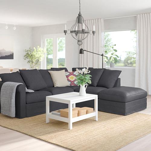 GRÖNLID - 四座位角位梳化, 開放式/Sporda 深灰色 | IKEA 香港及澳門 - PE759182_S4