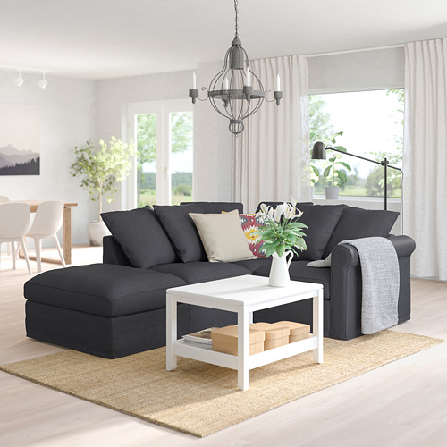 GRÖNLID - corner sofa, 3-seat, with open end/Sporda dark grey | IKEA Hong Kong and Macau - PE759193_S4