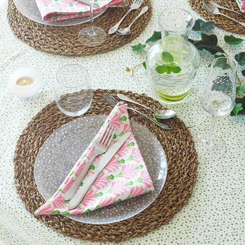 INBJUDEN - 餐巾, 白色/粉紅色 | IKEA 香港及澳門 - PE814385_S4
