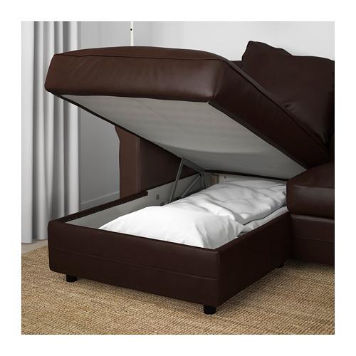 GRÖNLID - 3-seat sofa, with chaise longue/Kimstad dark brown   IKEA Hong Kong and Macau - PE669705_S4