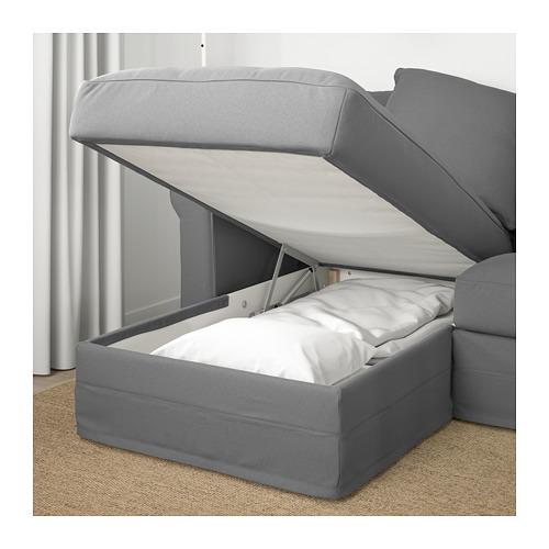 GRÖNLID - 4-seat sofa, with chaise longue/Ljungen medium grey | IKEA Hong Kong and Macau - PE669706_S4