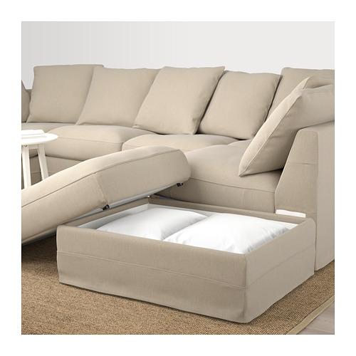 GRÖNLID u-shaped sofa, 6 seat