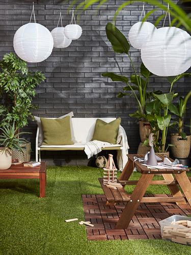 INGMARSÖ - 兩座位梳化,室內/戶外用, 白色 綠色/米黃色 | IKEA 香港及澳門 - PH175757_S4