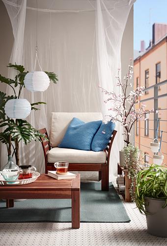 ÄPPLARÖ - armchair, outdoor, brown stained   IKEA Hong Kong and Macau - PH175975_S4