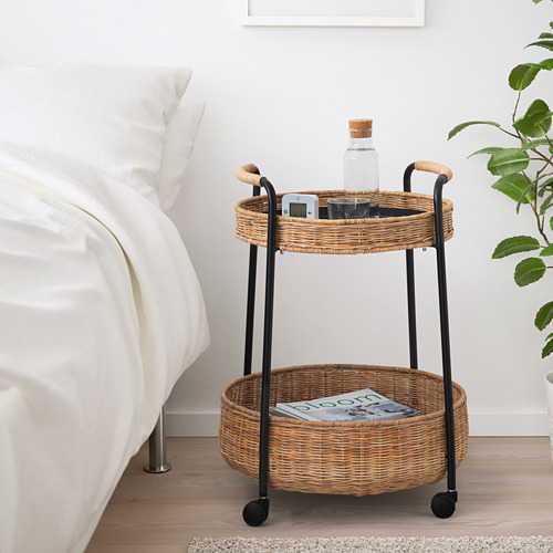LUBBAN - trolley table with storage, rattan/anthracite   IKEA Hong Kong and Macau - PE719507_S4