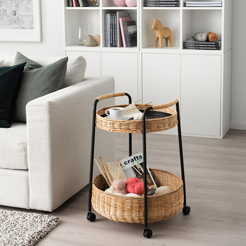 LUBBAN - trolley table with storage, rattan/anthracite   IKEA Hong Kong and Macau - PE719508_S4