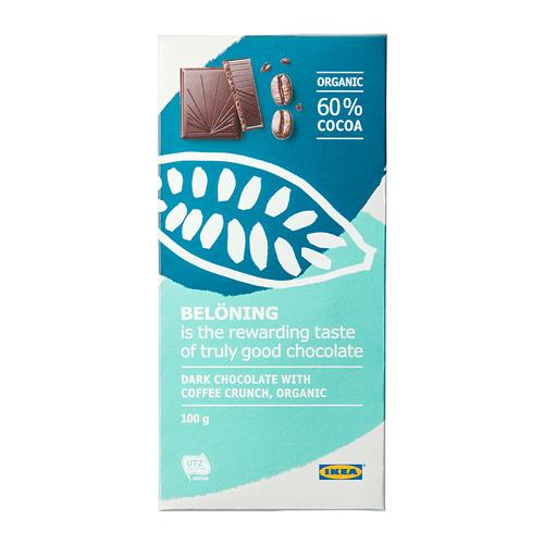 BELÖNING - dark chocolate tablet 60%, coffee crunch UTZ certified/organic | IKEA Hong Kong and Macau - PE719543_S4