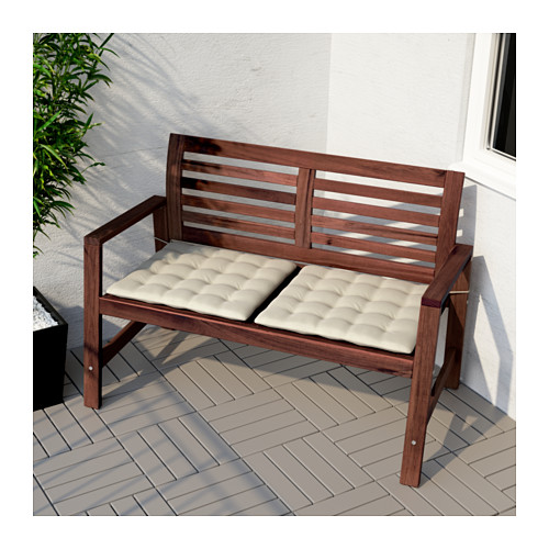ÄPPLARÖ - bench with backrest, outdoor, brown stained | IKEA Hong Kong and Macau - PE618347_S4