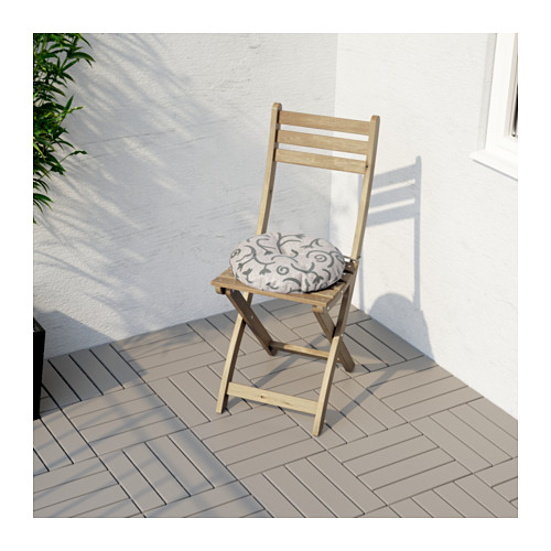 ASKHOLMEN - chair, outdoor, foldable light brown stained | IKEA Hong Kong and Macau - PE618368_S4