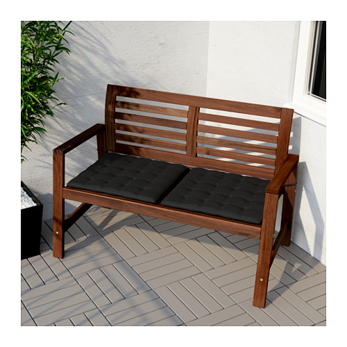 ÄPPLARÖ - bench with backrest, outdoor, brown stained | IKEA Hong Kong and Macau - PE618379_S4