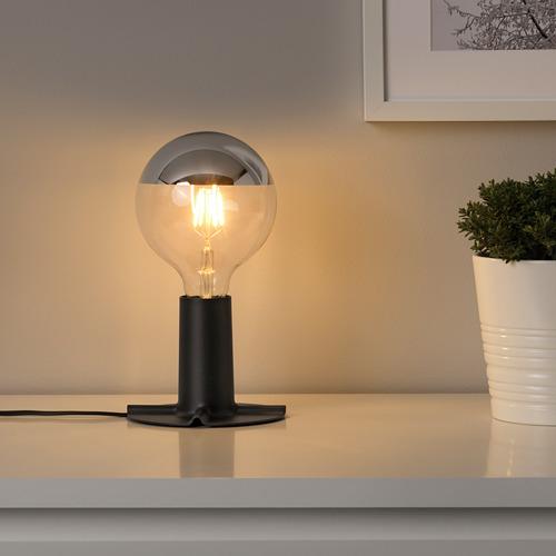 SKALLRAN - 座檯燈座, 深灰色/金屬   IKEA 香港及澳門 - PE712950_S4