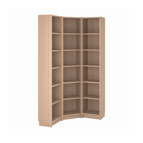 BILLY - bookcase combination/crnr solution, white stained oak veneer | IKEA Hong Kong and Macau - PE814539_S4