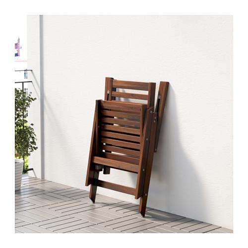 ÄPPLARÖ - 戶外躺椅, 可摺合 染褐色 | IKEA 香港及澳門 - PE618458_S4