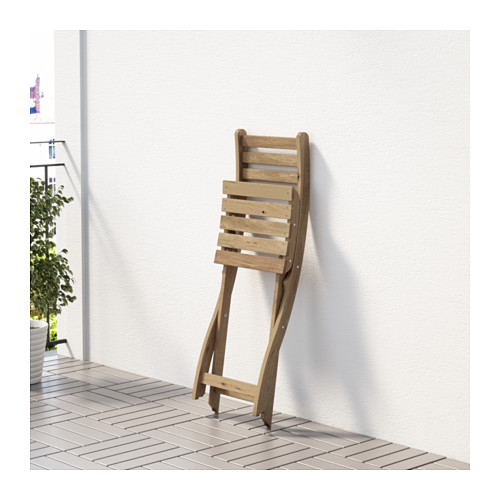 ASKHOLMEN - chair, outdoor, foldable light brown stained | IKEA Hong Kong and Macau - PE618460_S4