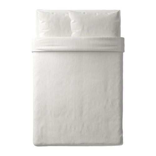 NATTJASMIN - 被套連2個枕袋, 白色, 200x200/50x80 cm  | IKEA 香港及澳門 - PE619049_S4