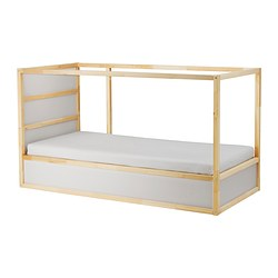 KURA - reversible bed, white/pine | IKEA Hong Kong and Macau - PE331952_S3