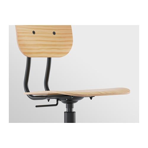 KULLABERG - swivel chair, pine/black | IKEA Hong Kong and Macau - PE618514_S4