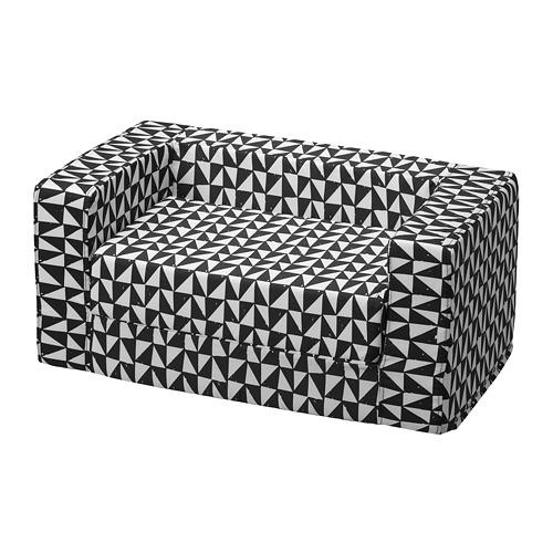 LURVIG - 貓/狗床布套, 黑色/白色 | IKEA 香港及澳門 - PE759666_S4