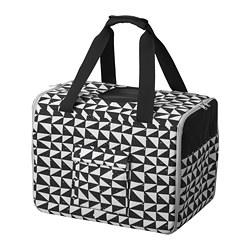 LURVIG - 寵物旅行袋, 白色/黑色 | IKEA 香港及澳門 - PE759662_S3