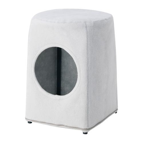 LURVIG - 貓屋連凳, 淺灰色/黑色 | IKEA 香港及澳門 - PE759679_S4
