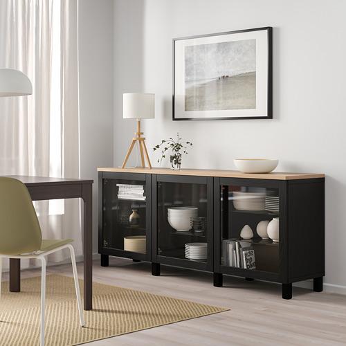 BESTÅ - storage combination with doors, black/Sindvik/Stubbarp black | IKEA Hong Kong and Macau - PE814700_S4