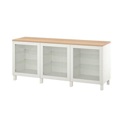 BESTÅ - 貯物組合連門, white/Sindvik/Stubbarp white clear glass   IKEA 香港及澳門 - PE814703_S4