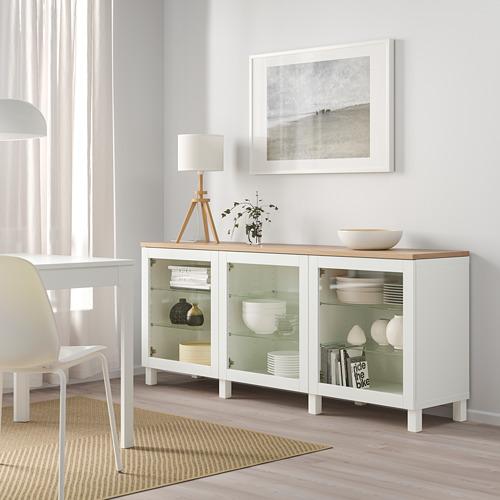 BESTÅ - 貯物組合連門, white/Sindvik/Stubbarp white clear glass   IKEA 香港及澳門 - PE814701_S4
