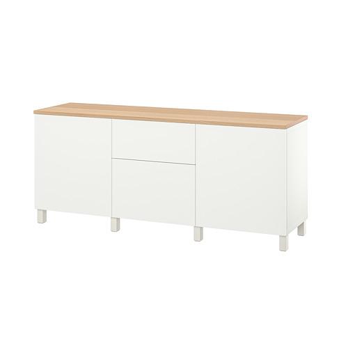 BESTÅ - 貯物組合連抽屜, white/Lappviken/Stubbarp white   IKEA 香港及澳門 - PE814707_S4