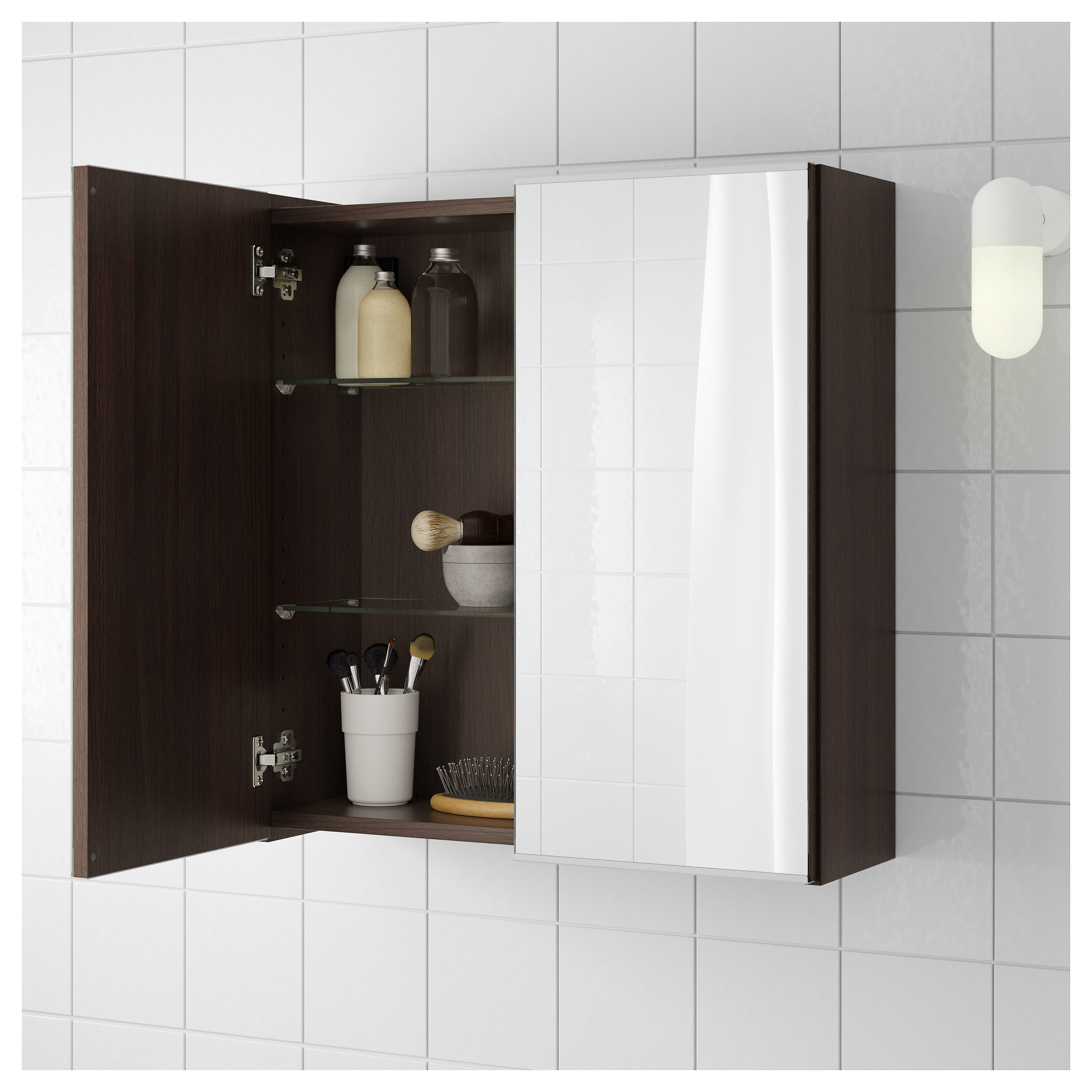 Lillangen Mirror Cabinet With 2 Doors Black Brown Ikea Hong Kong And Macau