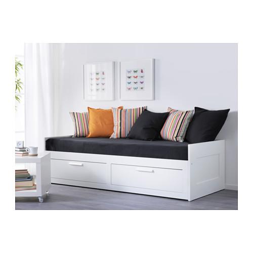 BRIMNES - 日間床連2抽屜及2床褥, 白色/Malfors 高度承托 | IKEA 香港及澳門 - PE554907_S4
