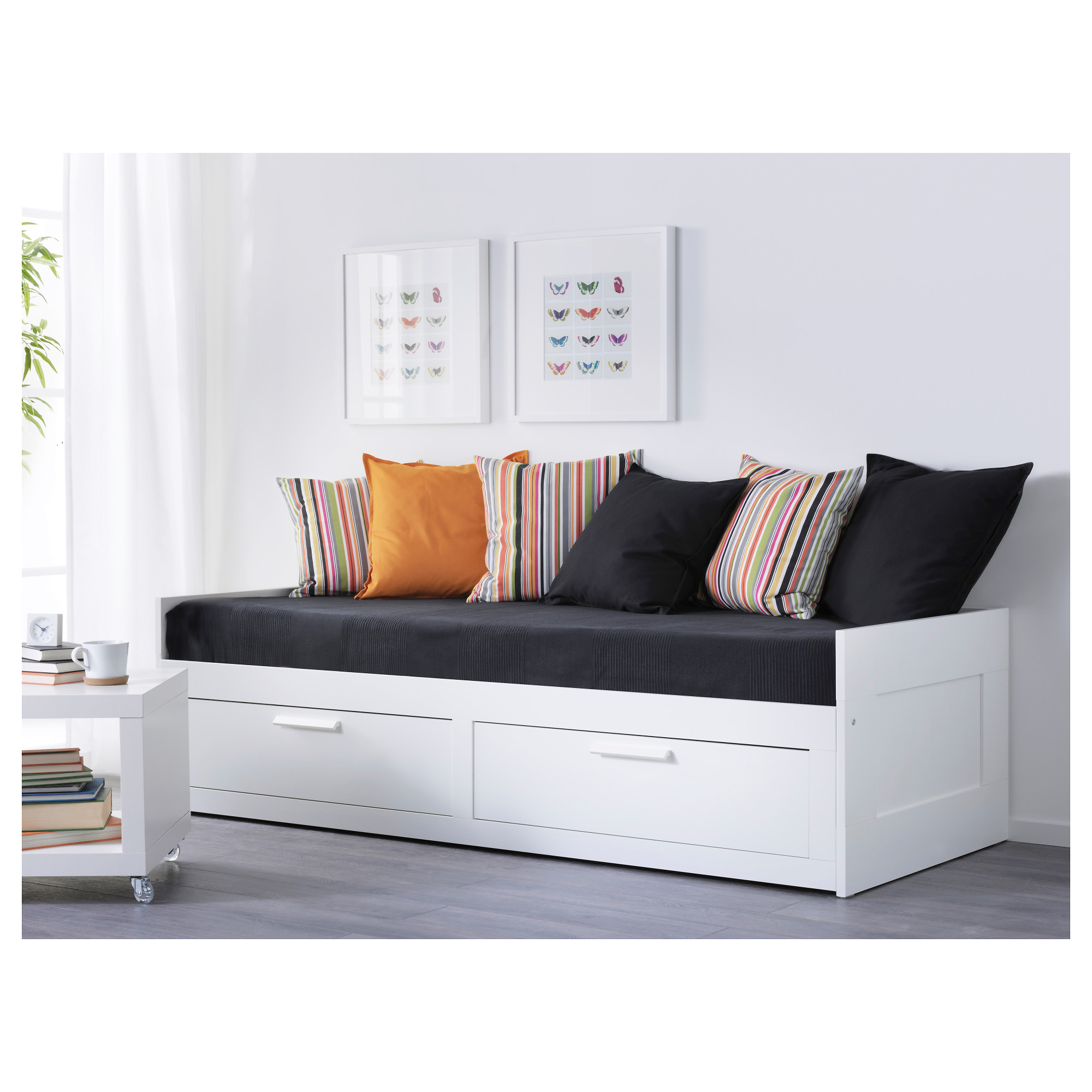 - BRIMNES - Day-bed Frame With 2 Drawers, White IKEA Hong Kong
