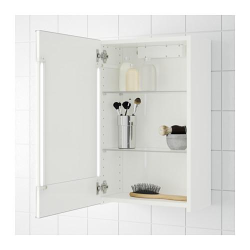 STORJORM 單門鏡櫃/內置燈具