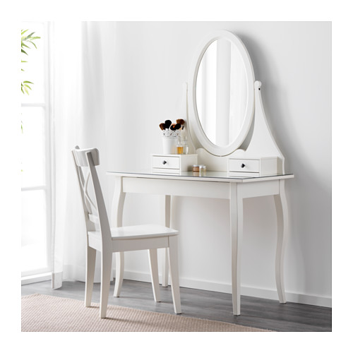 HEMNES - dressing table with mirror, white | IKEA Hong Kong and Macau - PE554959_S4