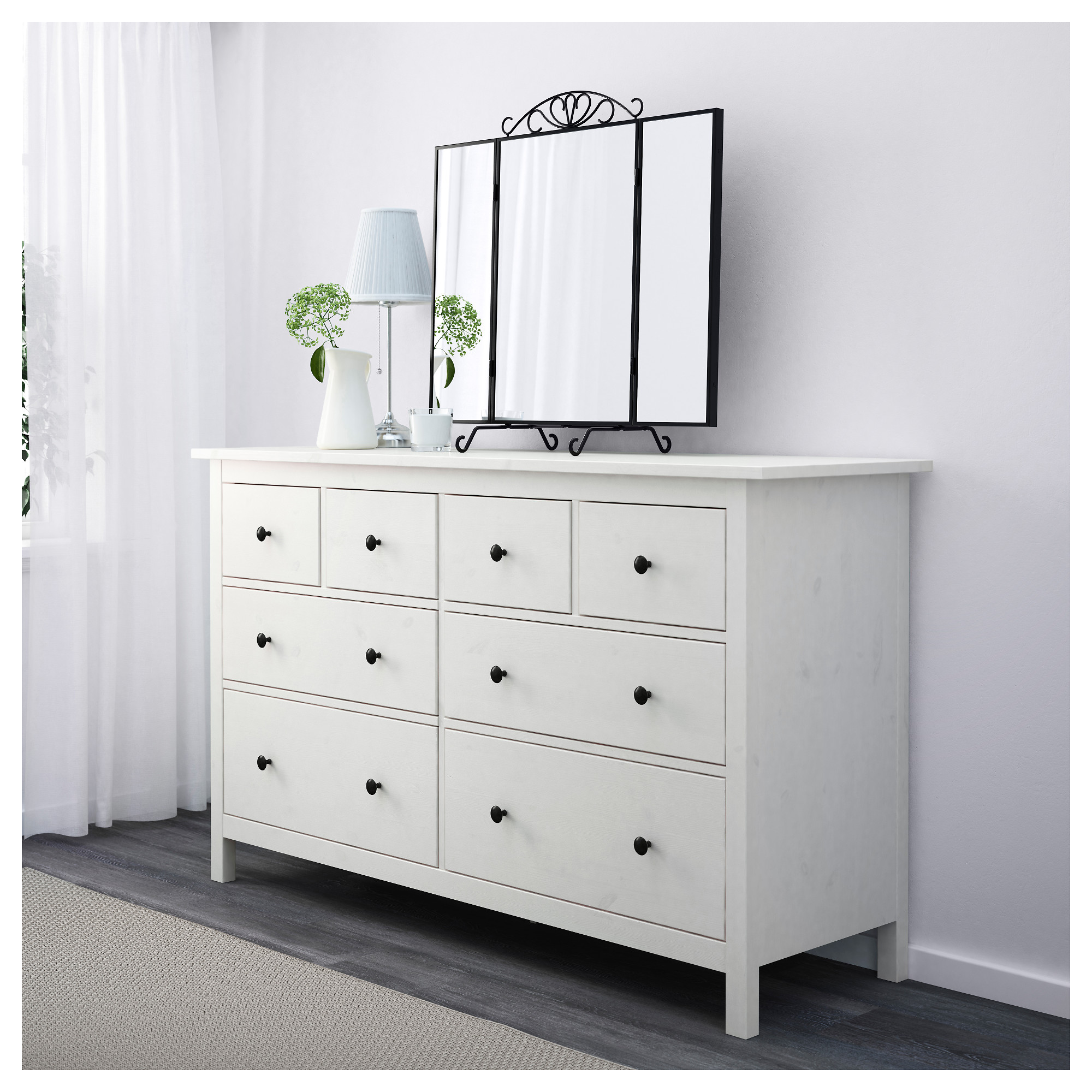 buy online 7e041 df9bd HEMNES - chest of 8 drawers, white stain | IKEA Hong Kong