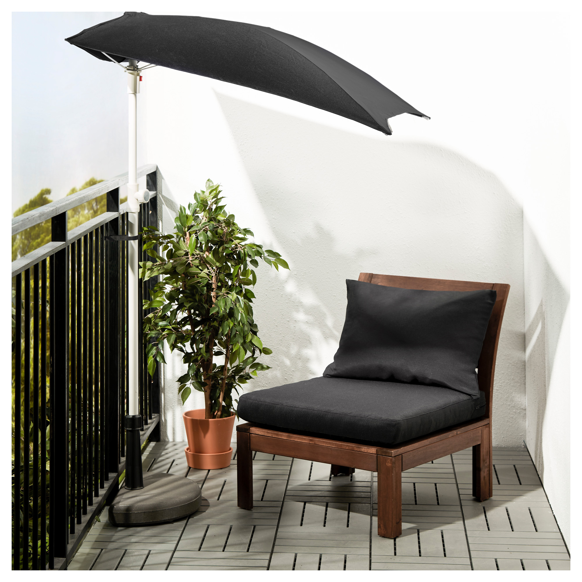 Applaro Easy Chair Outdoor Brown Stained Hallo Black Ikea Hong Kong And Macau