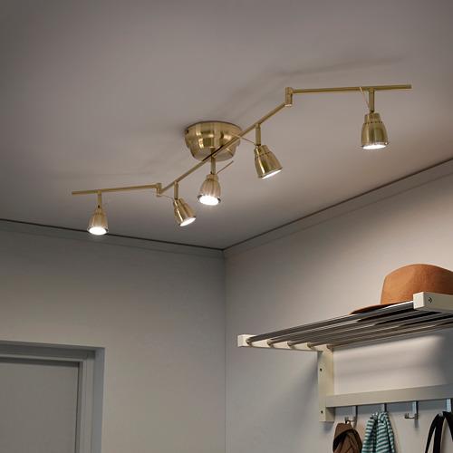 BAROMETER - 五頭天花射燈燈軌, 黃銅色 | IKEA 香港及澳門 - PE659744_S4
