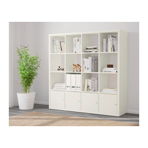 KALLAX - 層架組合連4個貯物格, 白色   IKEA 香港及澳門 - PE618794_S4