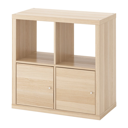 KALLAX - 層架組合連門, 染白橡木紋 | IKEA 香港及澳門 - PE618833_S4