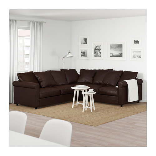 GRÖNLID - 四座位角位梳化, Kimstad 深褐色   IKEA 香港及澳門 - PE674959_S4