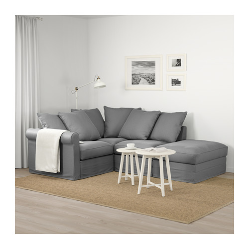 GRÖNLID - corner sofa, 3-seat, with open end/Ljungen medium grey | IKEA Hong Kong and Macau - PE674980_S4