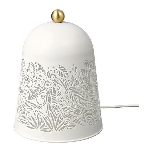 SOLSKUR - LED座檯燈, 白色/黃銅色   IKEA 香港及澳門 - PE759848_S4