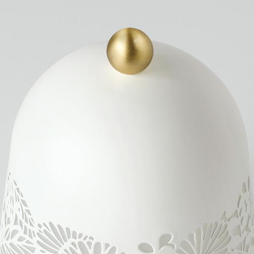 SOLSKUR - LED座檯燈, 白色/黃銅色   IKEA 香港及澳門 - PE759849_S4