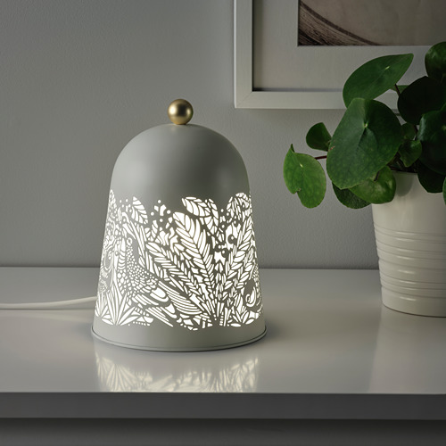 SOLSKUR - LED座檯燈, 白色/黃銅色   IKEA 香港及澳門 - PE759851_S4