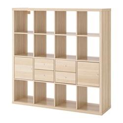 KALLAX - 層架組合連4個貯物格, 染白橡木紋 | IKEA 香港及澳門 - PE618890_S3